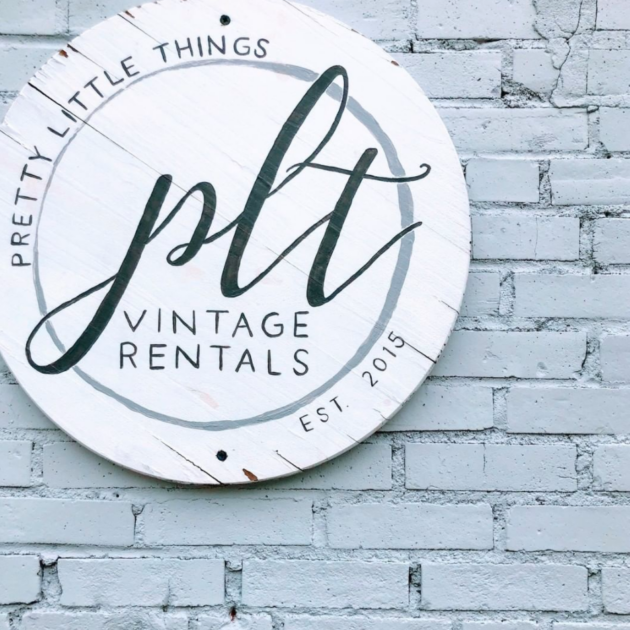 Pretty Little Things Vintage Rental Sign